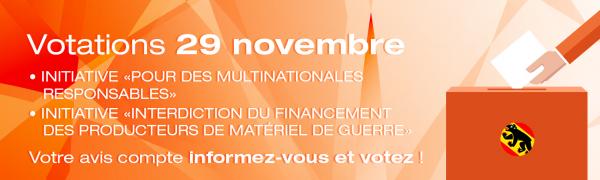 On vote le 29 novembre